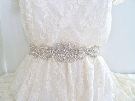 15 wide Bridal crystal belt wedding belt rhinestone by bohica01, $100.00