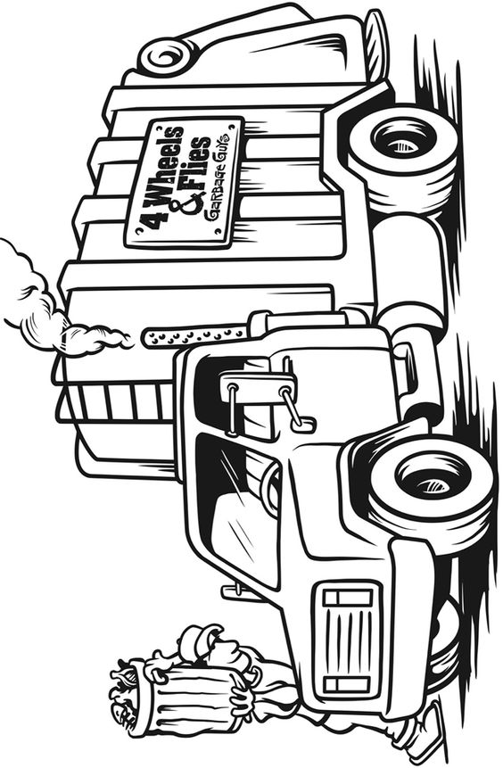 trucks and trains coloring pages - photo#19