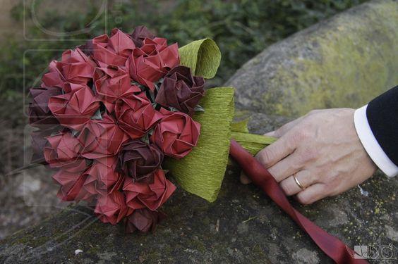 Bouquets Noiva em Origami - wedocreativesolutions