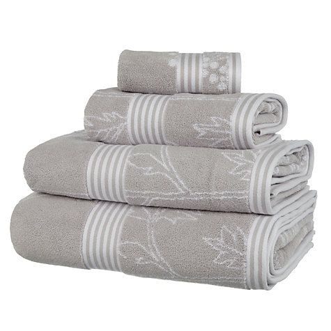 Buy John Lewis Country Cow Parsley Towels, Silver Online at johnlewis.com:
