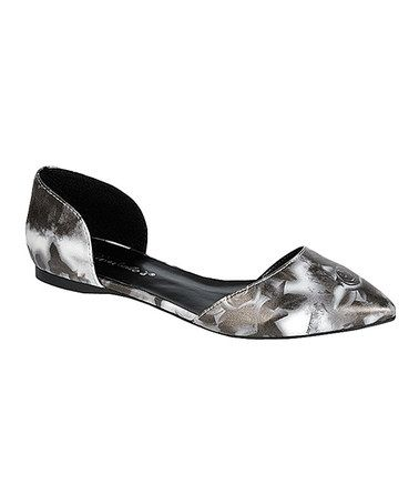 Love this Black Pattern Dolley D'Orsay Flat on #zulily! #zulilyfinds
