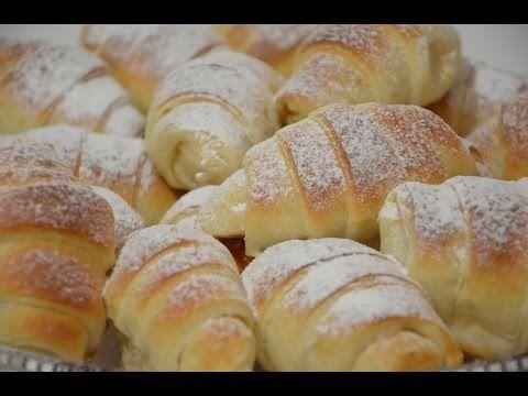 Punjene mliječne kiflice - Sašina kuhinja - YouTube