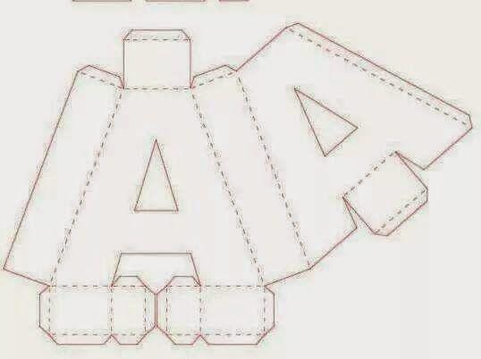Artesanato Significado ~ Letras 3D; Alfabeto 3D; Acetato, eva, mdf, Papelao alice 2 anos Pinterest 3D