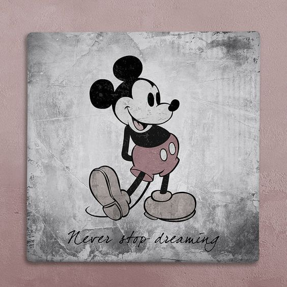 Mickey Mouse Wall Art disney wall art canvas in vintage style mickey mouse silhouette