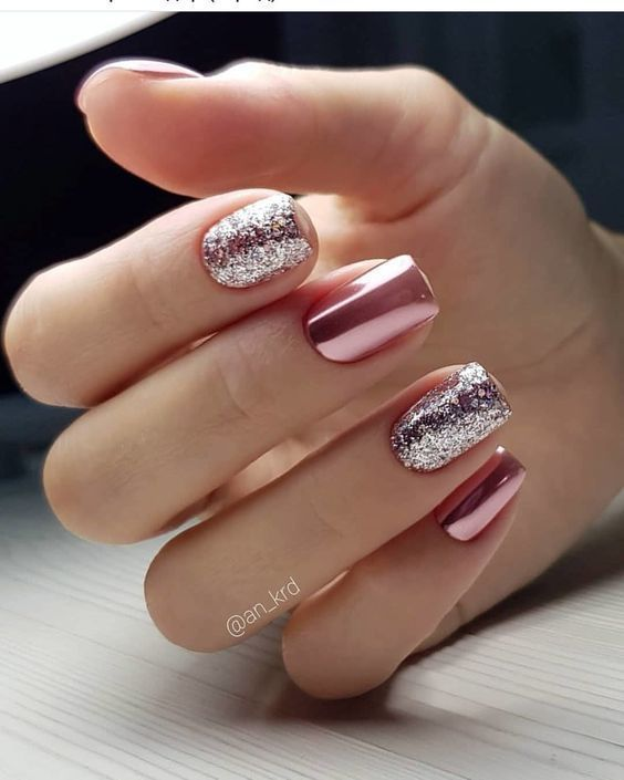 28 Excellent Winter Fancy Nails Trends Ideas To Wear This Year Page 10 Of 28 Creative Vision Design In 2020 Sparkle Nails Classy Nails Fancy Nails