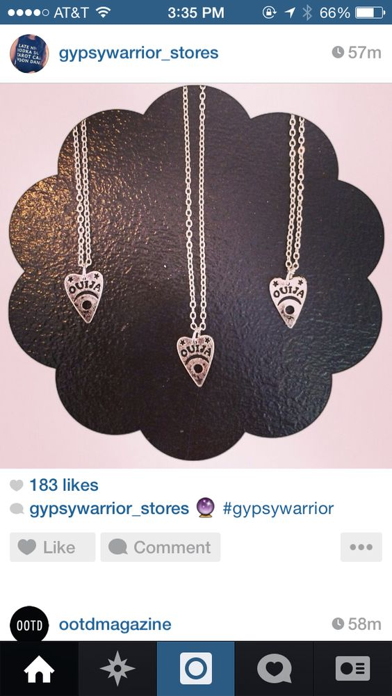 Ouija necklaces