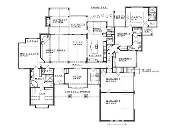 Ranch Style Open Floor Plans With Basement Level 1 View