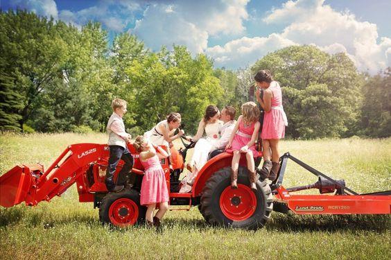 Red Barn Wedding - Massmann Farms 2015, Tractor Photo Op