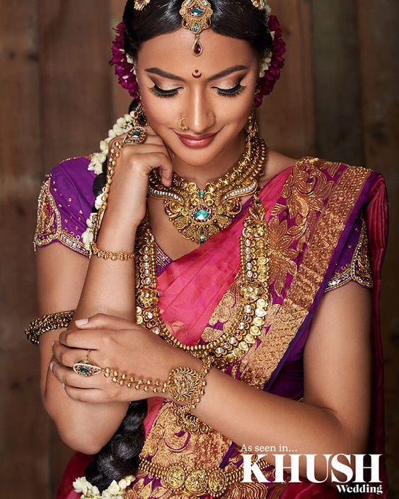 "Khush Magazine on Instagram: ""In awe of this #srilankan hair and makeup look created by @shindymua +44(0)7735 000 795 www.shindy.co.uk Outfit: @casipillaidesignercollection Jewellery: @aneesmalik_jewellery Flowers: Sri Vallis"""
