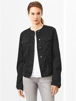 Collarless Black Jacket - My Jacket