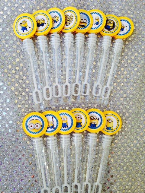 Disney Despicable Me Minion Happy Birthday Party Favor Bubble Wands on Etsy, $15.00