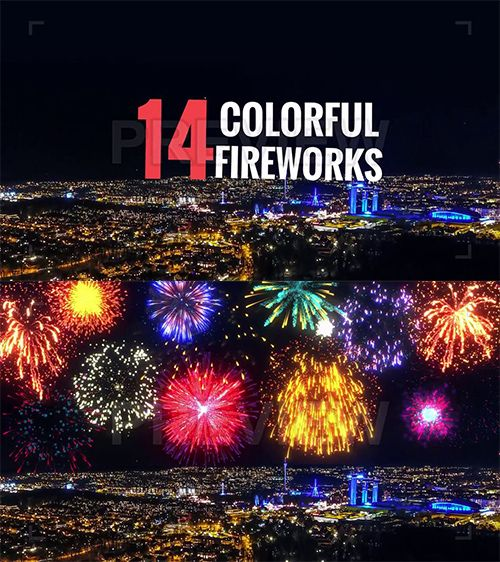 Colorful Fireworks Pack 54190 - Free download