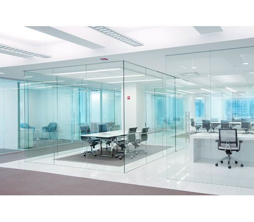 Dorma pure frameless glass sliding door system from dorma for Office glass door entrance designs