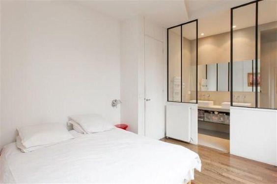 Une impression atelier pour une salle de bain dans la - Creer une salle de bain dans une chambre ...