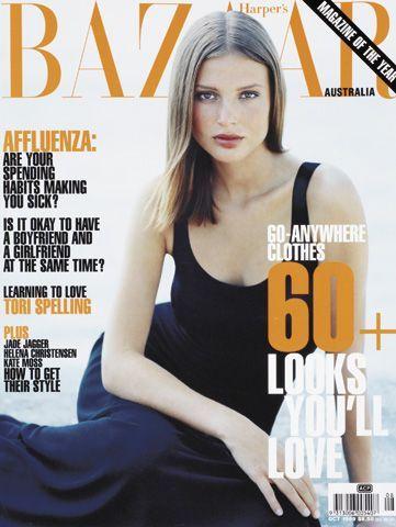 Bridget Hall by Patrick Demarchelier for  Harper's  Bazaar Australia October 1999.