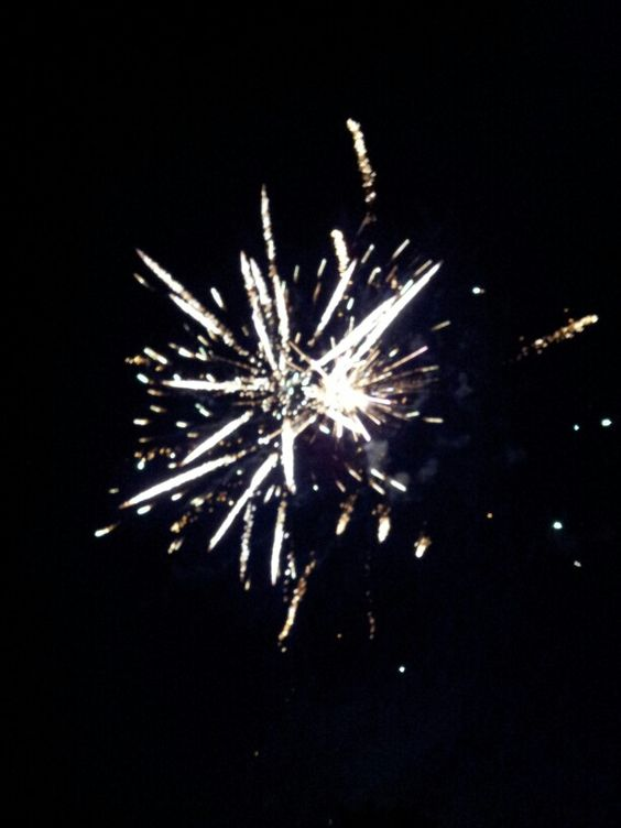 At a firework show