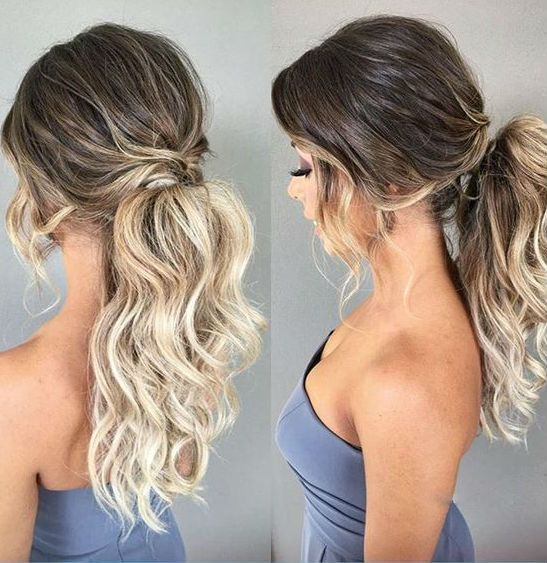 Cute Hairstyles For Medium Hair To Look Young And Pretty Ever Messy Hairstyle Hair Styles Messy Ponytail Hairstyles Curly Hair Styles