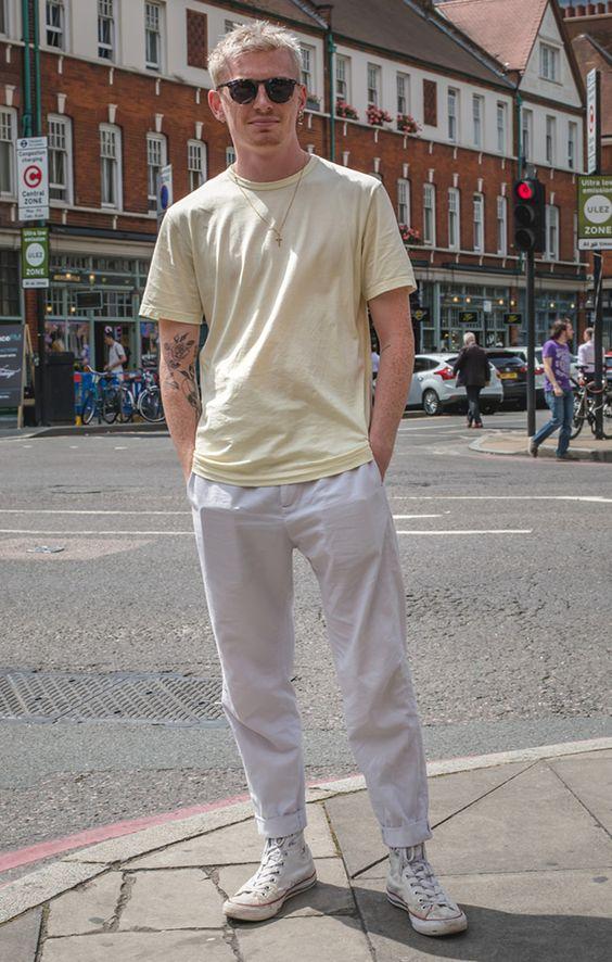 海外メンズソリッドTシャツコーデDaniel's Style | Street Style Photos at FashionBeans.com