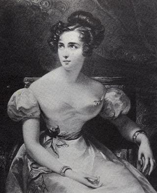 """HARRIET SMITHSON, esposa de Hector Berlioz. Henrietta Constance """"Harriet"""" Smithson (Ennis, 1800 — Paris, 3 de março de 1854) foi uma atriz irlandesa que atuava em Paris, em peças de Shakespeare. Tornou-se conhecida não por seu talento como atriz, mas por ter sido a grande paixão do compositor Hector Berlioz, a fonte inspiradora para a obra Sinfonia Fantástica e sua primeira esposa"""