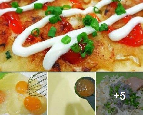 Resepi Okonomiyaki Pancake Sayur Ala Jepun Paling Senang Simple Dan Mudah Untuk Sarapan Pagi Sarapan Resep Makanan