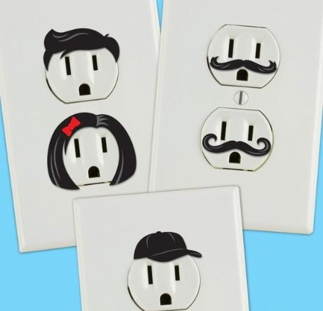 outlet stickers. adorable!