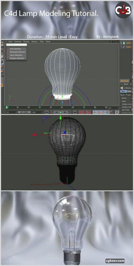 Cinema 4d Lamp Modeling Tutorial Cinema 4d Cinema 4d Tutorial Motion Graphics Tutorial