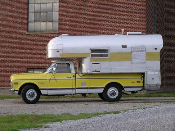 1968 Silver Streak Camper carried by a 1969 Chevrolet Longhorn.