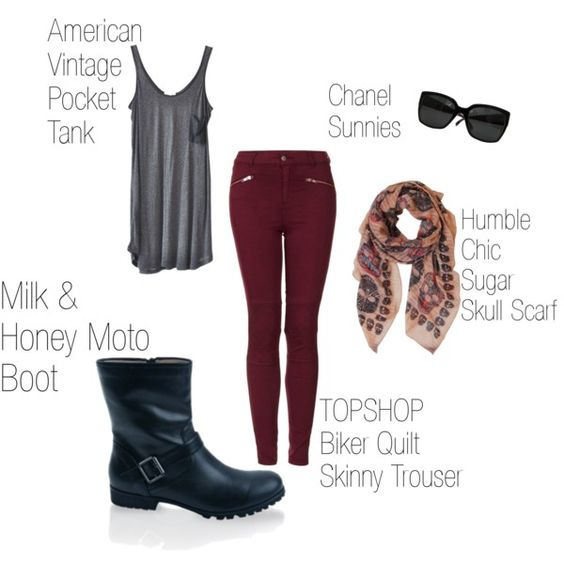 """""""Complete the Look: Moto Boots"""""""