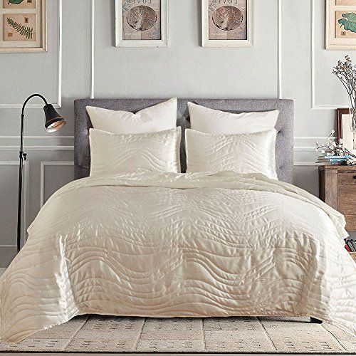 Memorecool Light Up Your Home Silk Like Bed Cover Sets White
