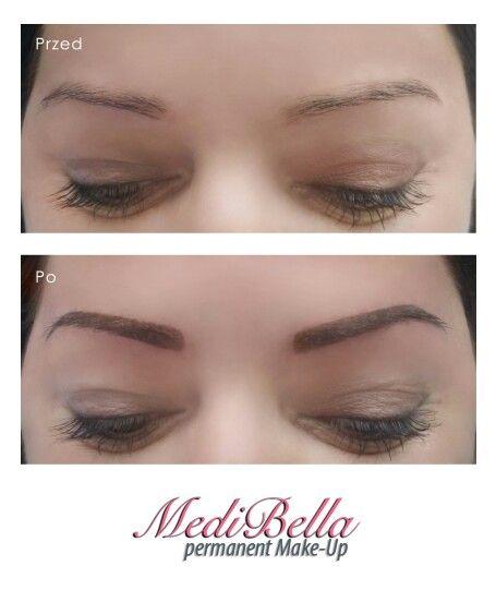 Makijaż permanentny brwi metodą cienia