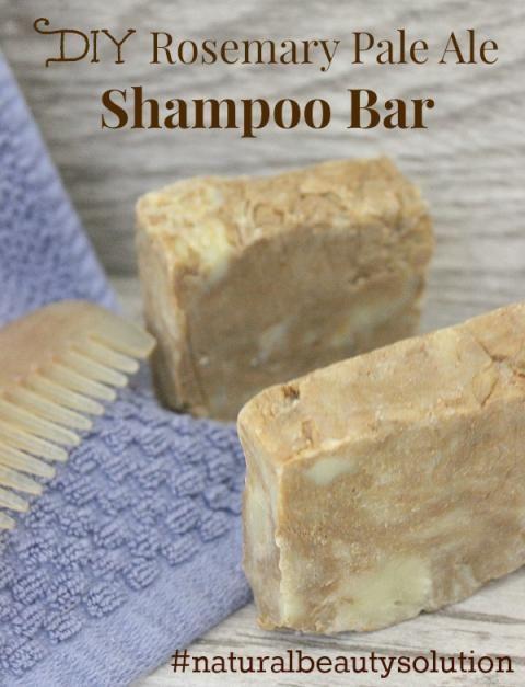 DIY Rosemary Pale Ale Shampoo Bar #naturalbeautysolution #diy