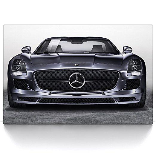 Mercedes-Benz 300 SL OLTIMER LEINWAND BILD DEKO AUTO POSTER BILDER ART  WANDBILD