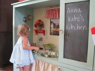 Entertainment center into kitchen