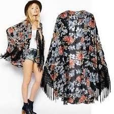 Resultado de imagem para kimono franjas
