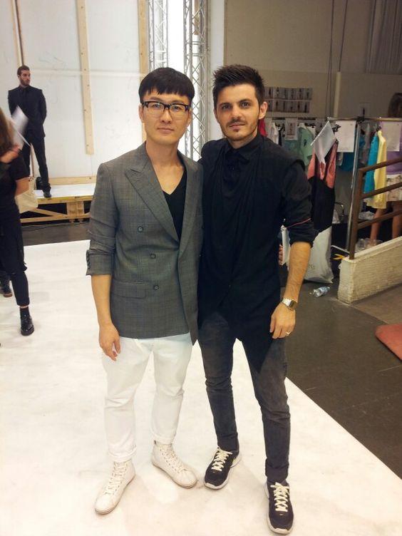 Prima di la #sfilata #Rick Lee #cote #Lee Jean Youn a #k-fashion project #milano #sebastian #valdez #fashion  #design #diseñador  de #moda  #@sebastianevaldez