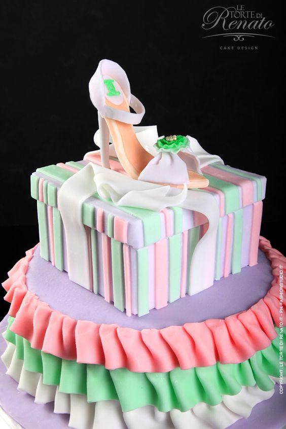 pretty fashion cake