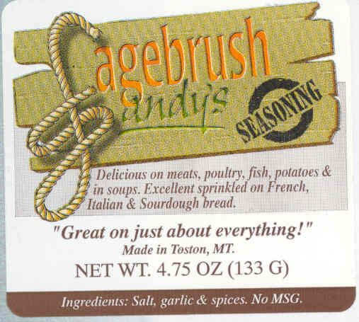 My Aunt in Montana is Sagebrush Sandy! his is a fantastic mix of spices! Check it out!