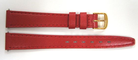 Timex 13mm Red Genuine Calf Leather Band ** Continue to the watch at the image link.