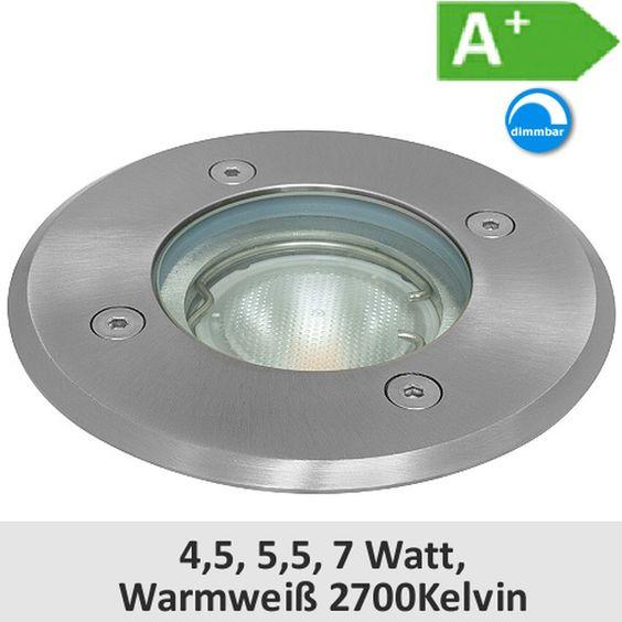 LED-Bodeneinbaustrahler R120, GU10 230V, IP67, 3...