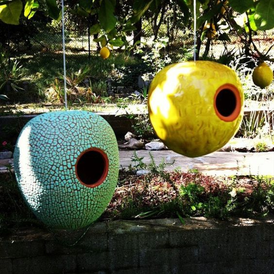 Heather Rosenman ModPod Birdhouses available at Potted: