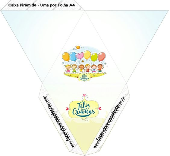 Caja pirámide niños.