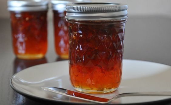 Hot inferno pepper jelly ~ I bet it's good with cornbread
