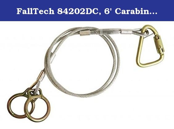 Falltech 84202dc 6 Carabiner Sling Anchor Vinyl Coated Galvanized Cable With 2 O Rings And Carabiner Pack Of 4 Pcs 6 Carabi Cable One Quickdraws D Rings
