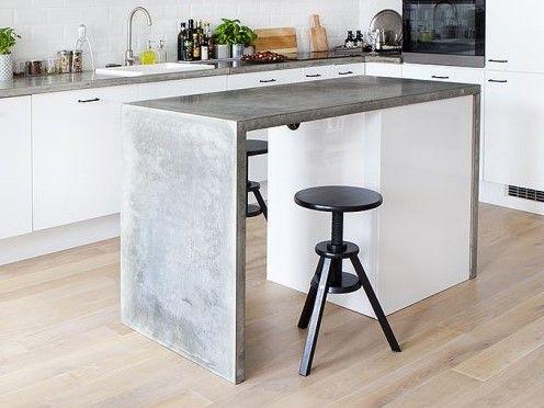 Blaty Wyspy Beton Architektoniczny Mikrocement 7194615019 Oficjalne Archiwum Allegro Breakfast Bar Home Decor Decor