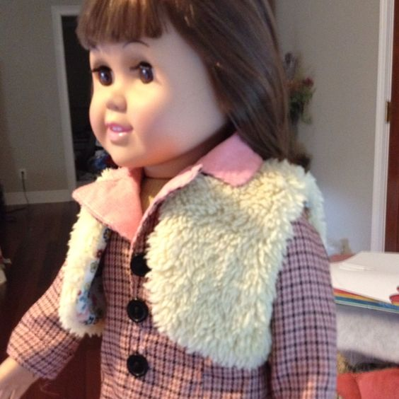 "reversible doll vest for AG American Girl or other 18""dolls using McCALL'S Crafts pattern M6480"