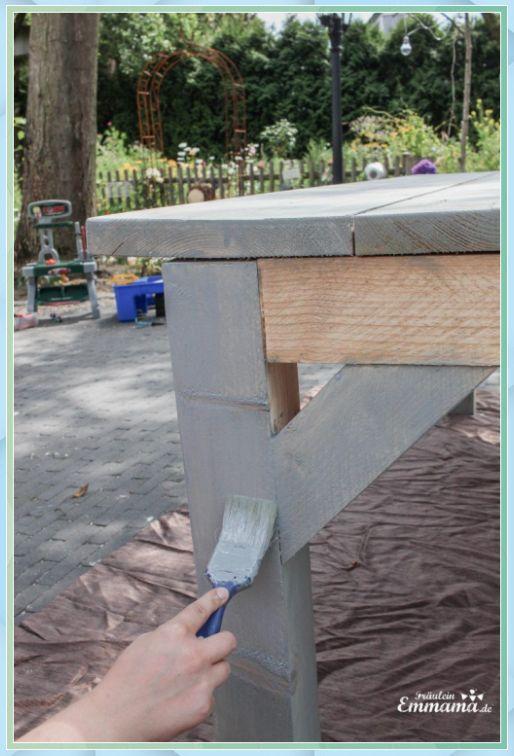 Diy Anleitung Fur Einen Gartentisch Aus Bauh Waschtisch Holz Beton Diy Anleitung Fur Einen Gartent Gartentisch Gartentisch Selber Bauen Gartentisch Holz