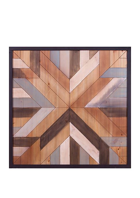 Patton Picture 30 X 30 Geometric Quilt Wood Wall Art With Images Geometric Quilt Wood Wall Art Wood Art
