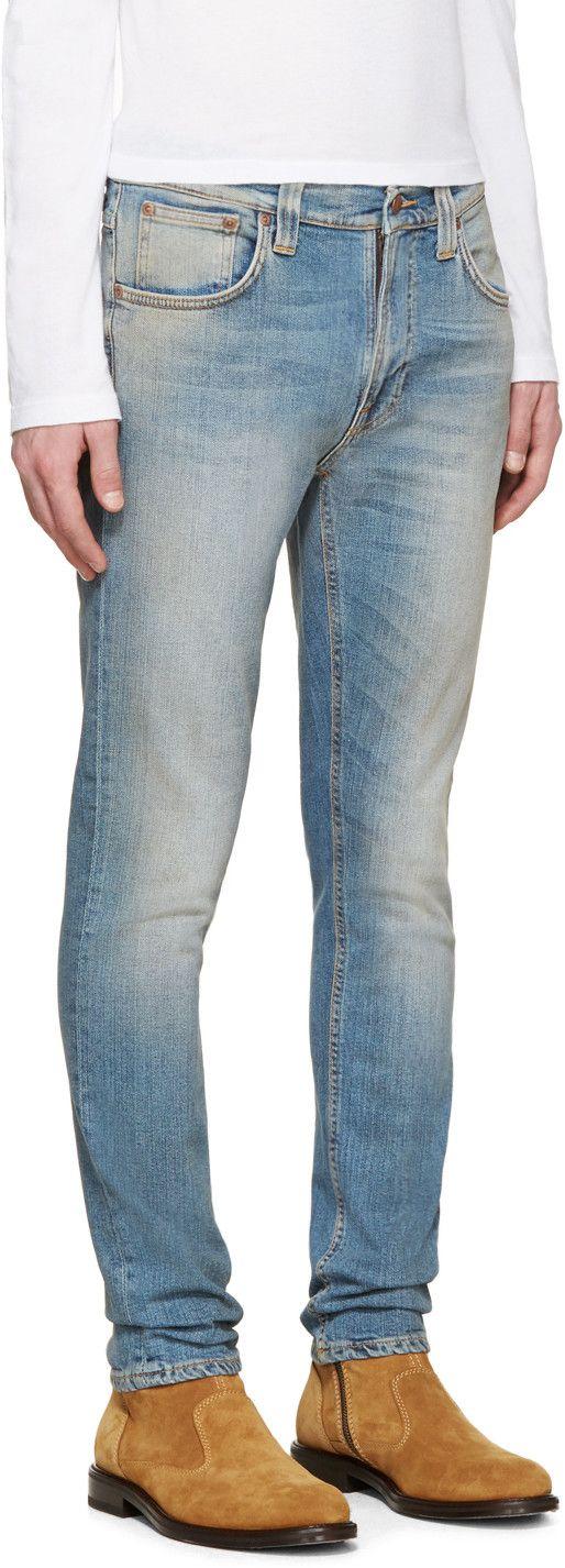Nudie Jeans - Jean bleu Lean Dean