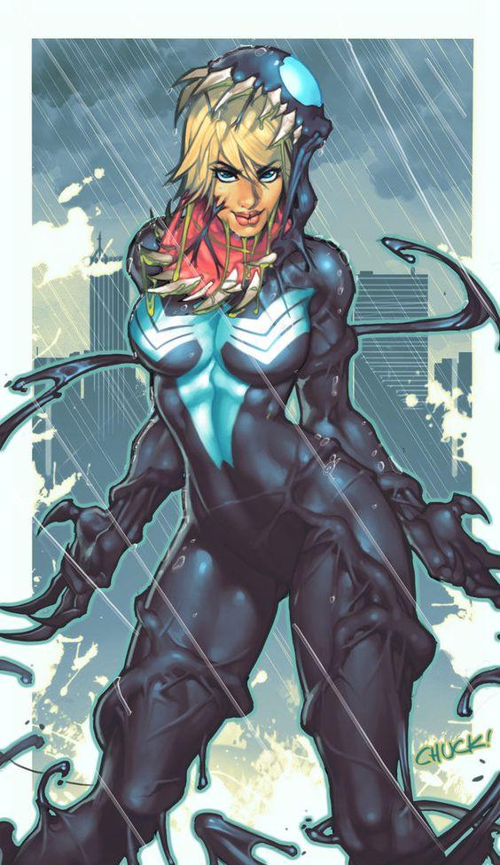 She Venom •Chuck Pires | Venom | Pinterest | Geek culture ...  Gwen Raiden Comic