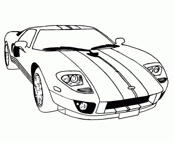 Supercar Ford Gt Coloring Pages Free Online Cars Coloring Pages
